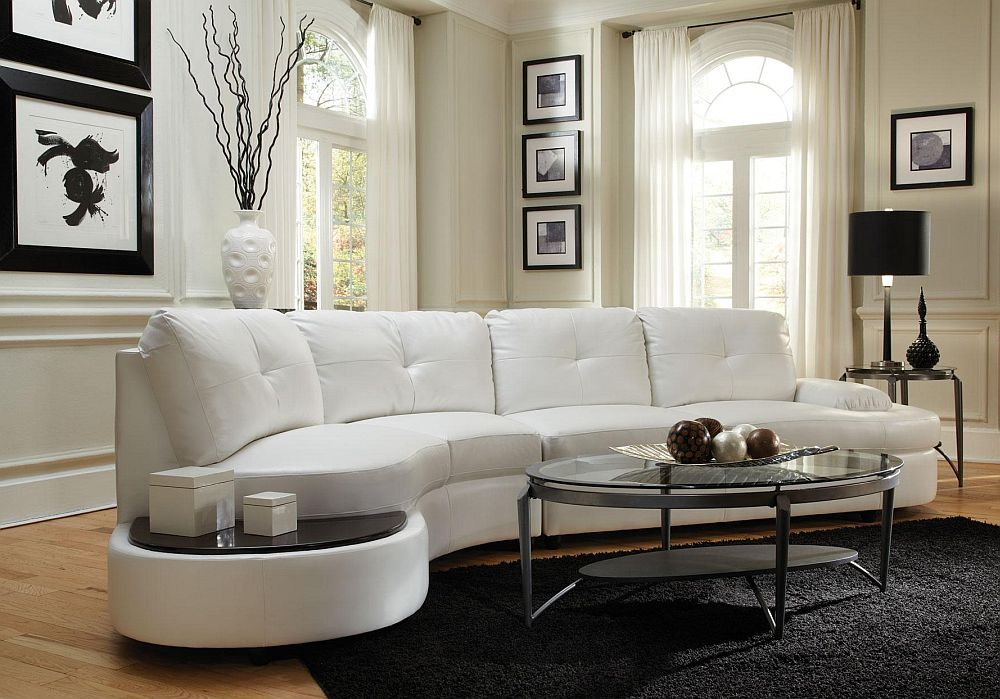 Talia Modern Rounded Home Theater Sectional - Stargate Cinema