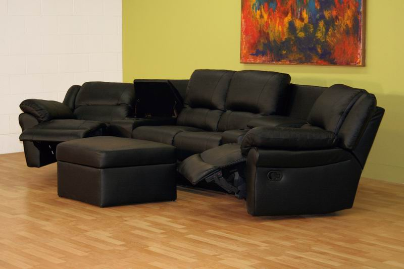 Broadway Home Theater Seating Sectional Black Stargate