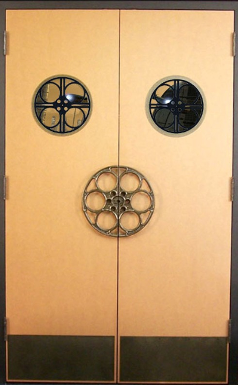 Theater Door Movie Reel Port Window with Personalization Option ...