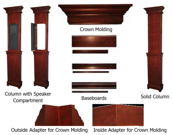 Theater Out-Of-The-Box Package with Optional Proscenium ... on luxury home theater design, basement home theater design, home theater stage design, home theater lighting design, home theater columns led backlight, home theater ceiling design, home cinema, home theater design example, home theater design ideas, home theater light columns, home theater furniture design, home theater cabinets design, home theater speaker columns,
