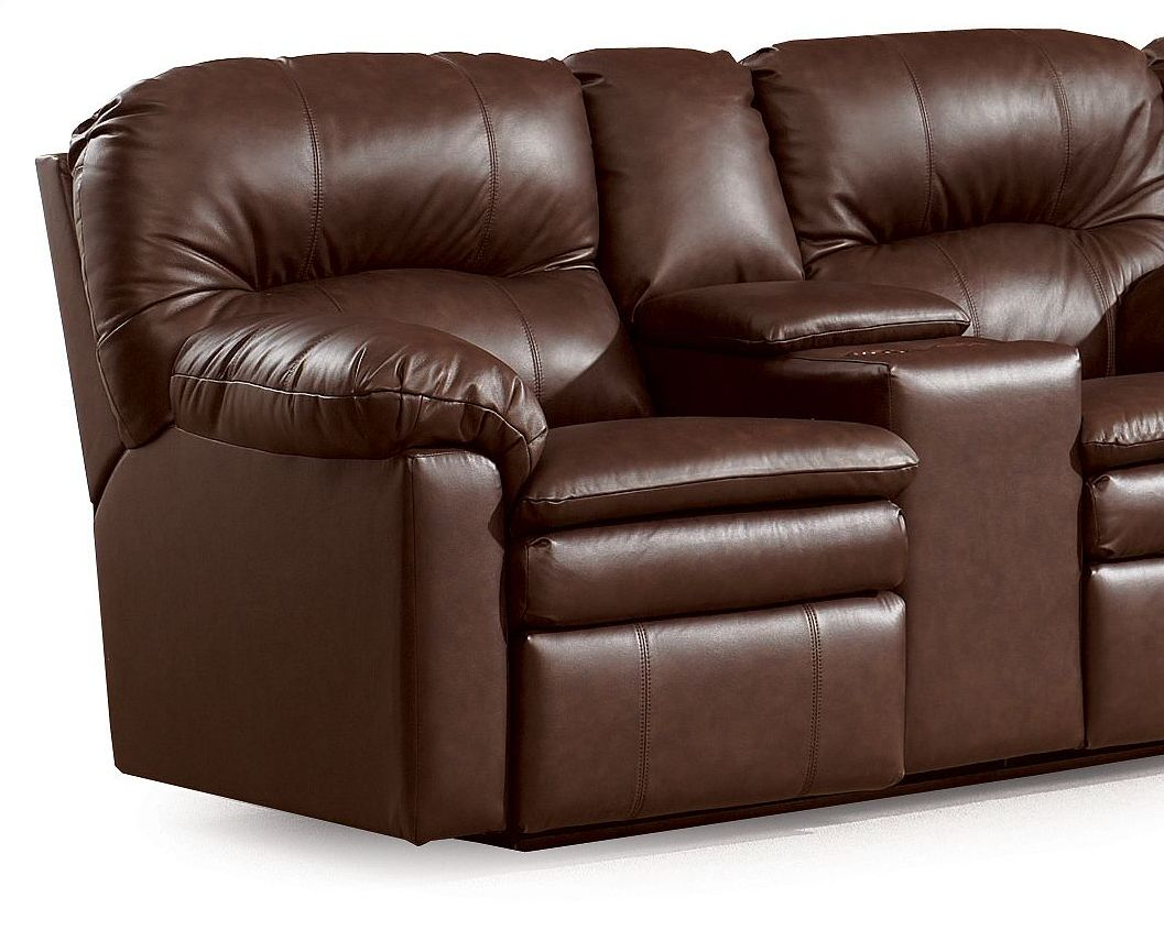 Lane Home Theater Double Reclining Sofa With Console