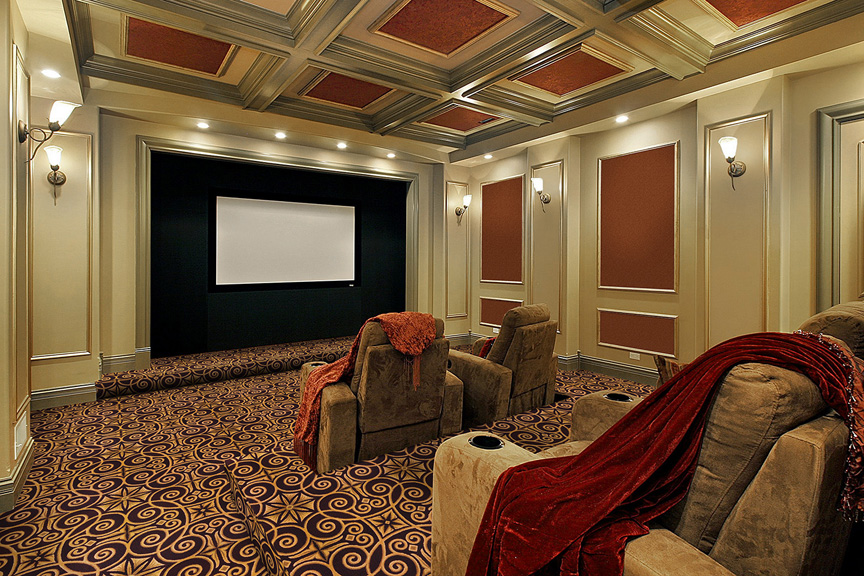 Antique Scroll Design Home Theater Carpet Stargate Cinema