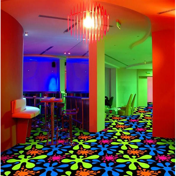Splat Fluorescent Seventies Theater Carpet Stargate Cinema