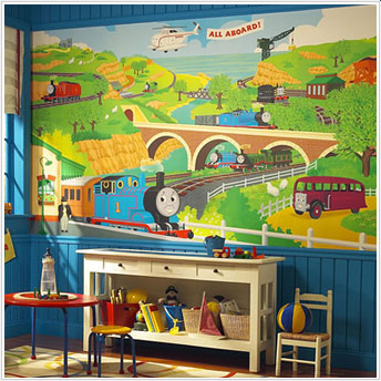thomas friends xl wall mural stargate cinema. Black Bedroom Furniture Sets. Home Design Ideas