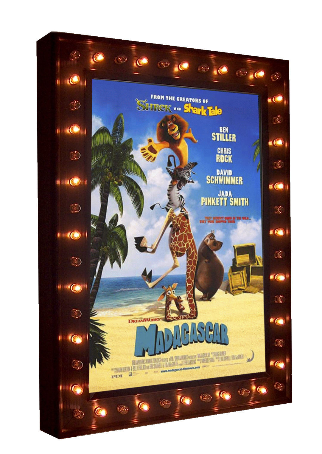 illuminated marquee poster case with chase lights - Movie Poster Frame
