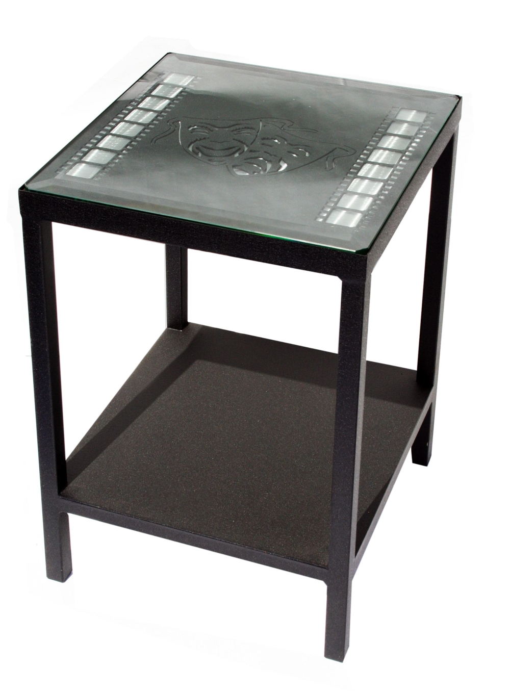 Theater themed end table with film strips stargate cinema for Table theme cinema