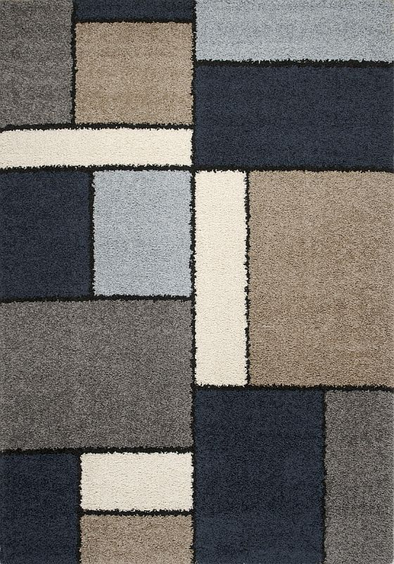 Milano Modern Area Rug With Blue Tones Stargate Cinema