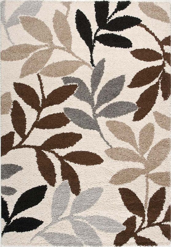 Milano Area Rug With Leaf Pattern
