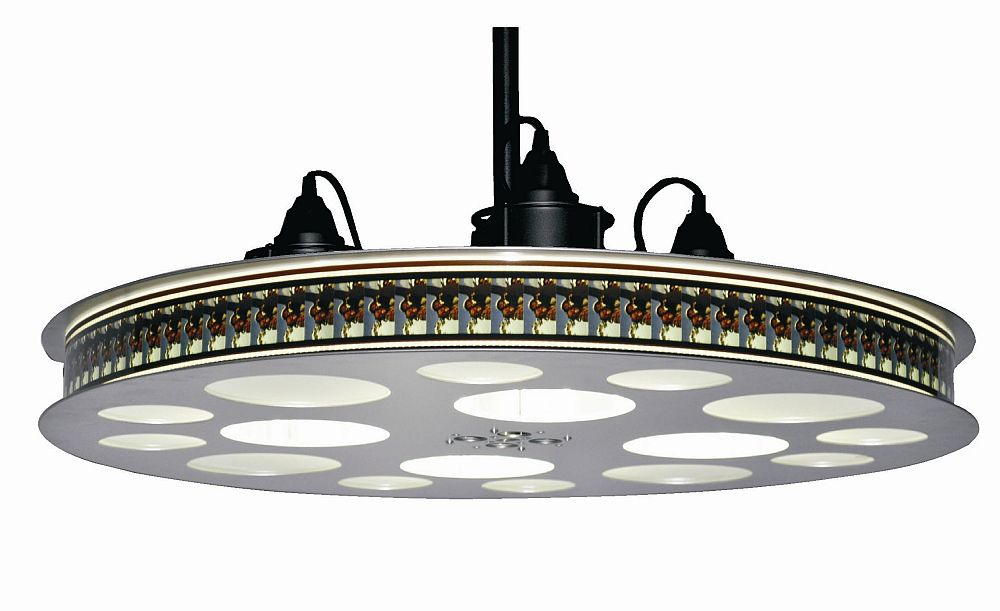 New! Movie Reel Theater Hanging Light Fixture 70MM - Stargate Cinema