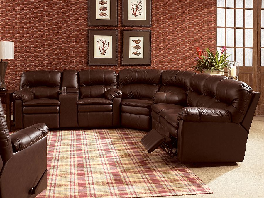 Lane Home Theater Touchdown Reclining Sectional Stargate