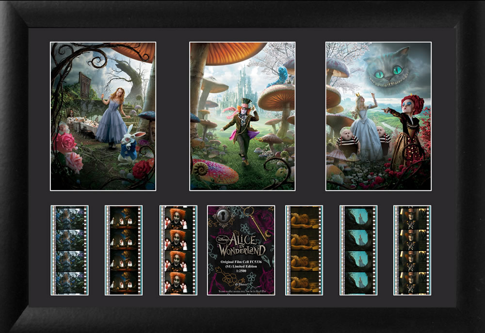 Alice In Wonderland All Characters Triple Frame Film Cell Stargate