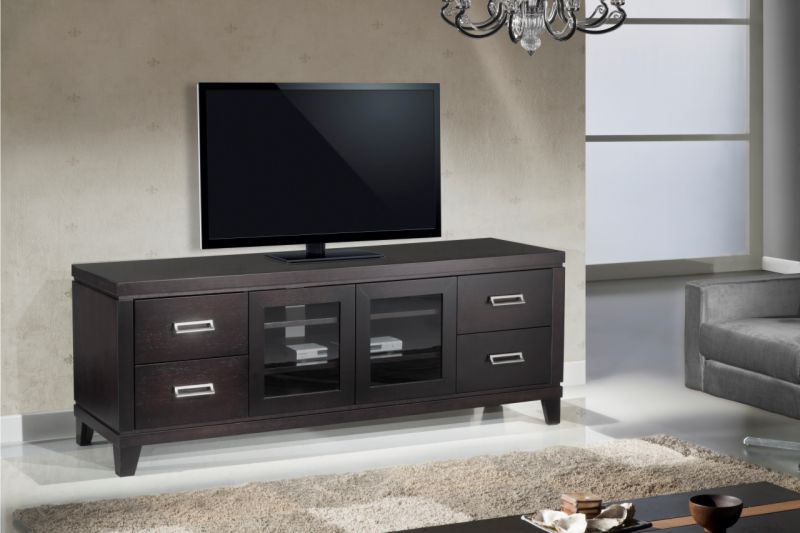 "70"" Transitional TV Stand, Media Console For Flat Screen"