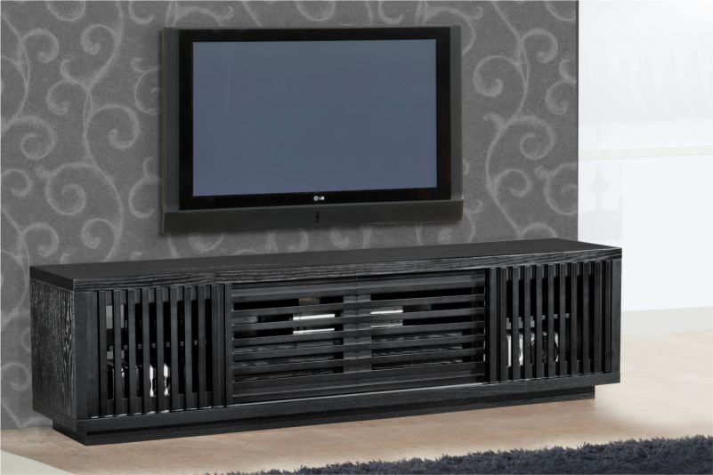 "82"" Contemporary Rustic TV Stand Media Console For Flat"