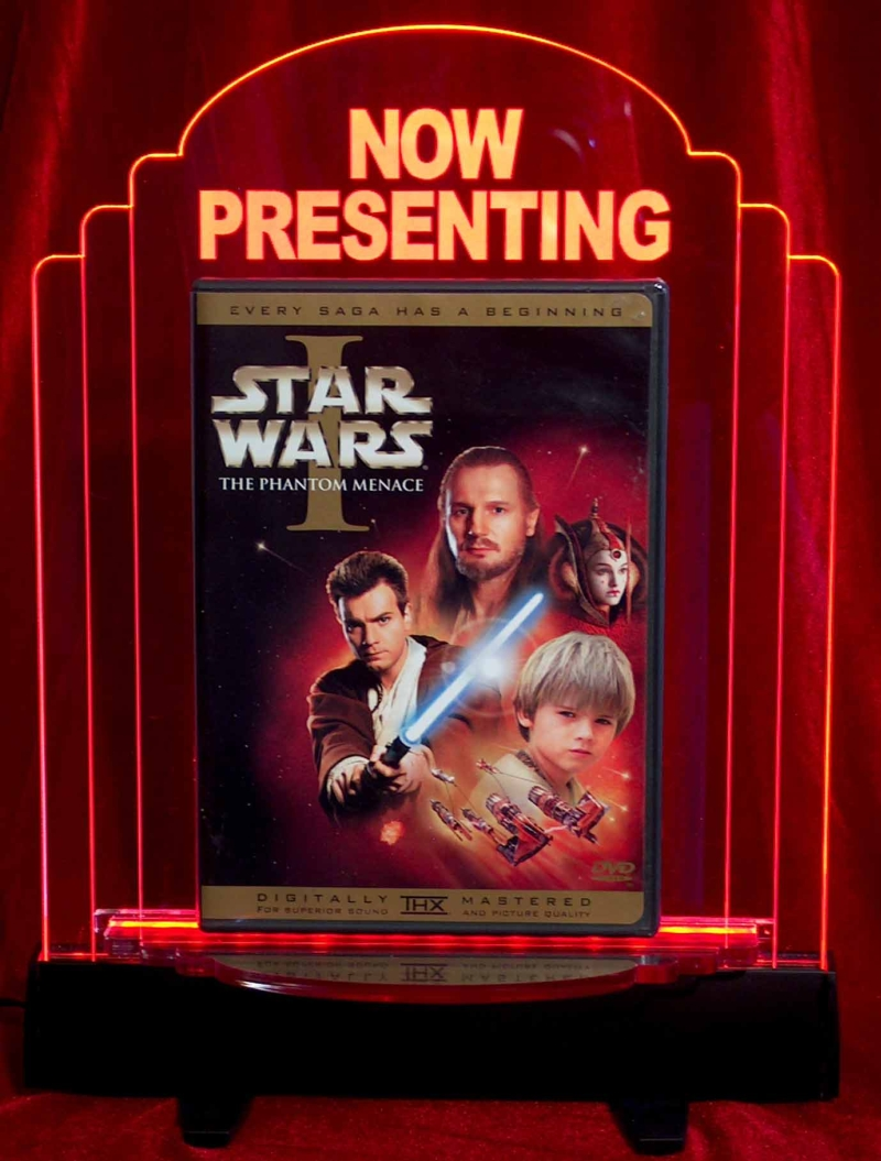 Now Showing Marquee Art deco edge-lite dvd marquee