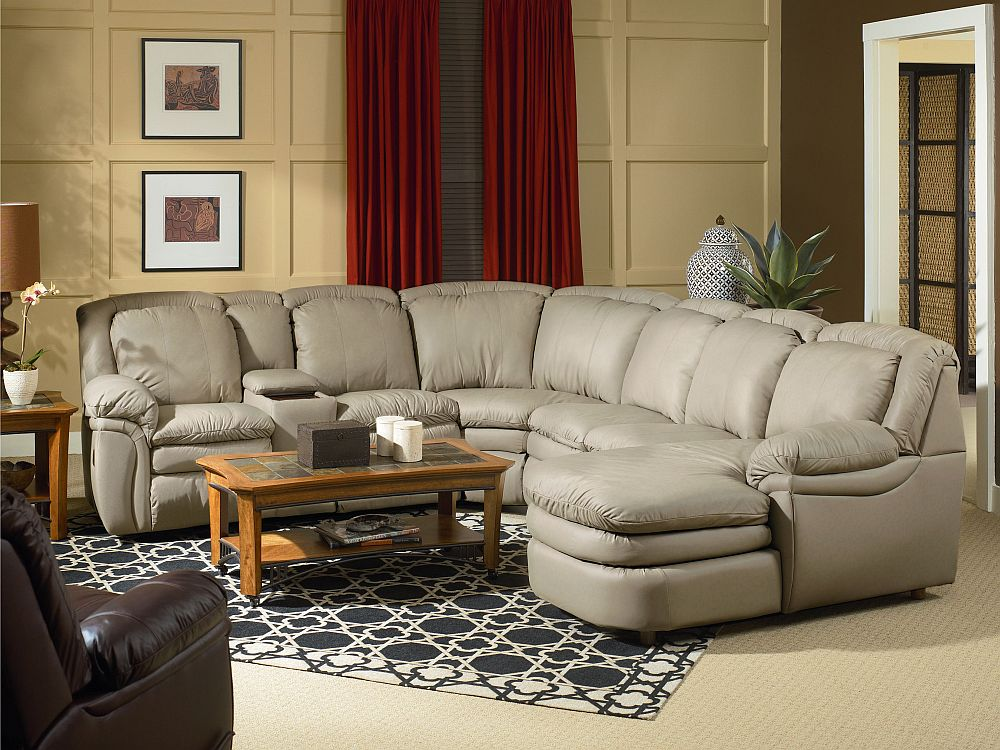Lane Home Theater Stallion Reclining Sectional with Chaise Chair : reclining sectional with chaise - islam-shia.org