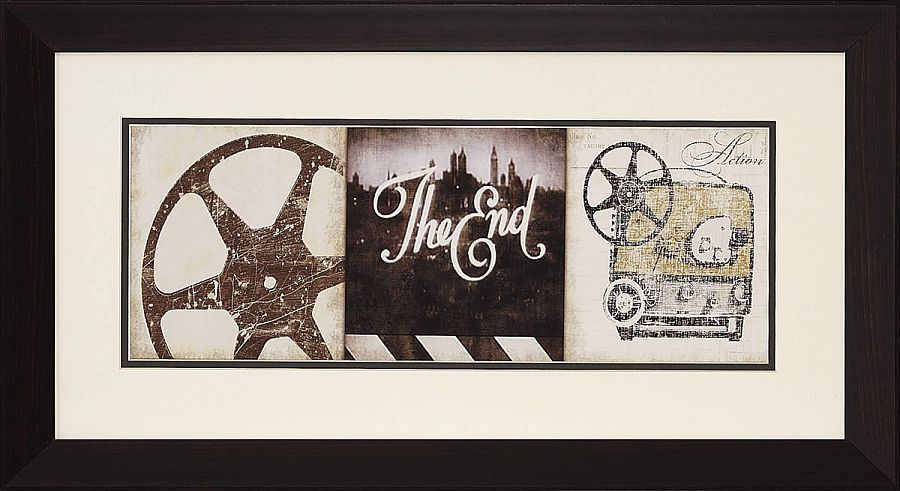 "Movie Theater Wall Decor the end"" framed theater wall art - stargate cinema"