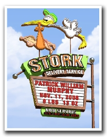 Personalized Stork Marquee Print!