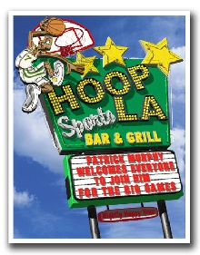 Hoop-La-Basketball Sports Bar & Grill Personalized Marquee Print!