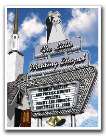 Personalized Little Wedding Chapel Marquee!