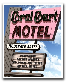 Coral Court Motel Personalized Marquee Print!