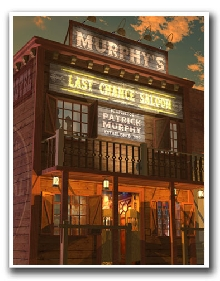 Western Saloon Personalized Print