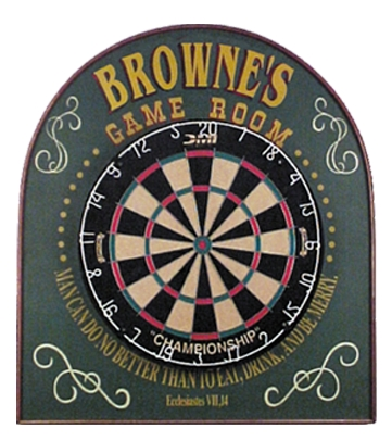 Personalized Game Room Dart Board Sign