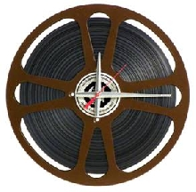 Movie Reel Clock with Film 15""