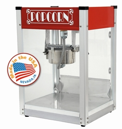 Gatsby 4 oz Popcorn Machine Red