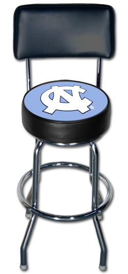 Cool North Carolina Tarheels Bar Stool With Back Stargate Cinema Unemploymentrelief Wooden Chair Designs For Living Room Unemploymentrelieforg