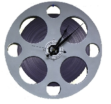 Large Movie Reel Clock