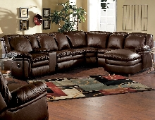 Lane Home Theater Stallion Reclining Sectional  with Chaise Chair