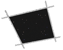 Star Ceiling Tile 2' x 2'