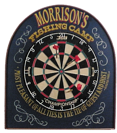 Personalized Dart Camp Board Sign