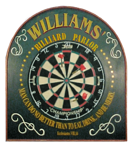Personalized Billiard Parlor Dart Sign
