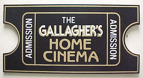 Personalized Movie Ticket Theater Sign