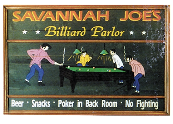 Personalized Rectangle Billiard Parlor Sign