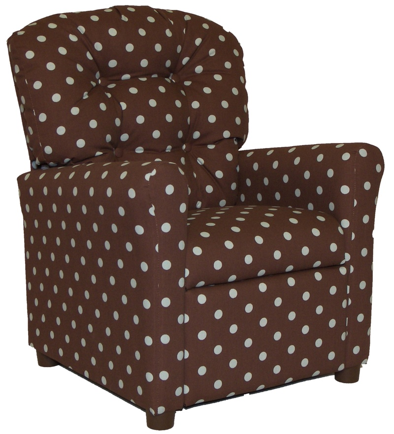 Polka Dot Kids Button Back Deluxe Recliner