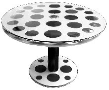 "Standard 14.75""  Movie Reel Table with Shipping Can Cover Base"