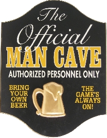 Official Man Cave Sign Large