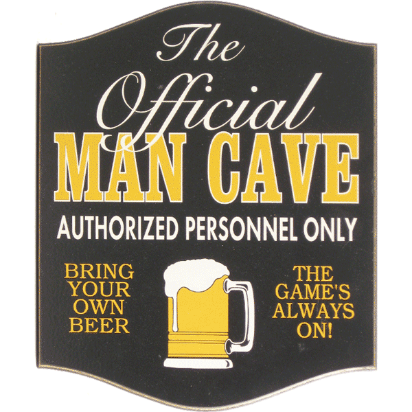 Small Official Man Cave Sign
