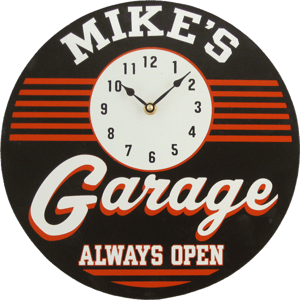 Personalized Garage Man Cave Clock