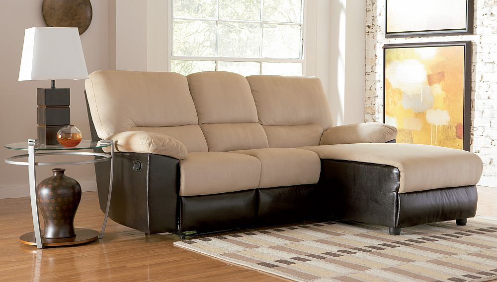 Recliner and chaise microfiber sofa stargate cinema for Berkline chaise lounge