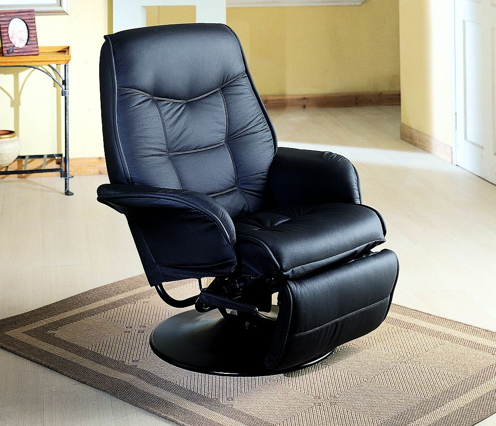 Pleasing Euro Style Swivel Chair With Recline In Black Stargate Cinema Gmtry Best Dining Table And Chair Ideas Images Gmtryco
