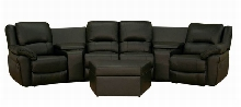 Broadway Home Theater Seating Sectional Black