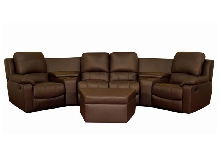 Broadway Home Theater Seating Sectional Brown