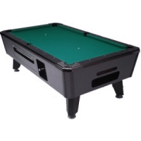 Valley Black Cat Pool Table with Green Cloth