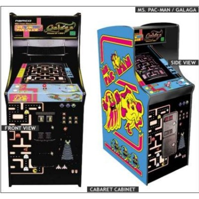"Ms. Pac/Galaga 19"" Home Arcade Game Non-Coin"