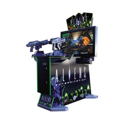 "Aliens Extermination 42""2-Gun Deluxe Arcade Game"