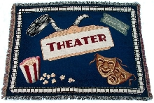Home Theater Blue Throw Blanket