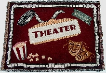 Home Theater Burgundy Throw Blanket
